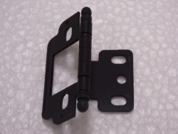 Inset with Ball Finial Black Open Hinge
